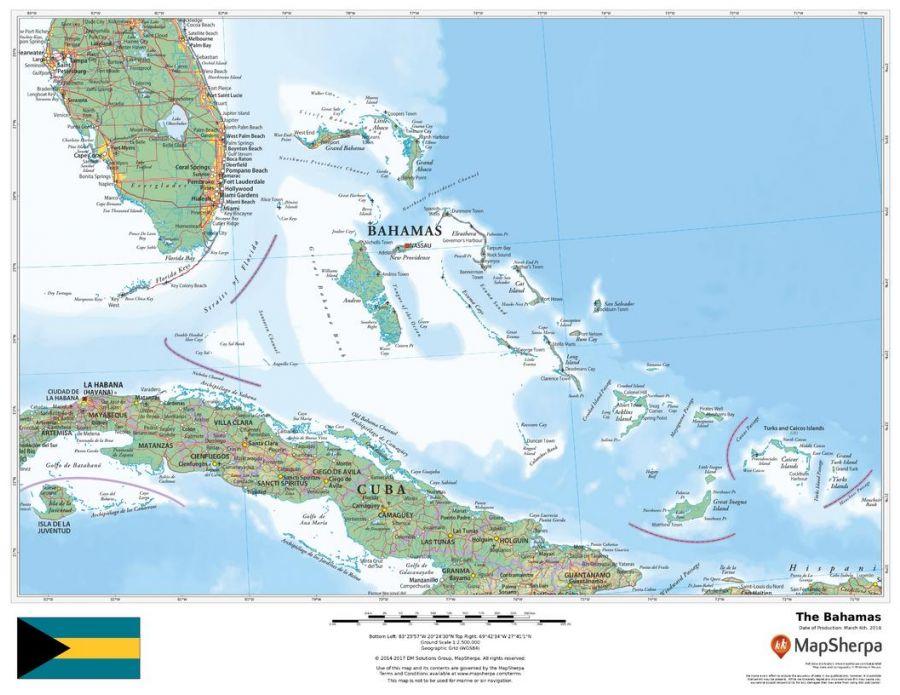 The Bahamas Map