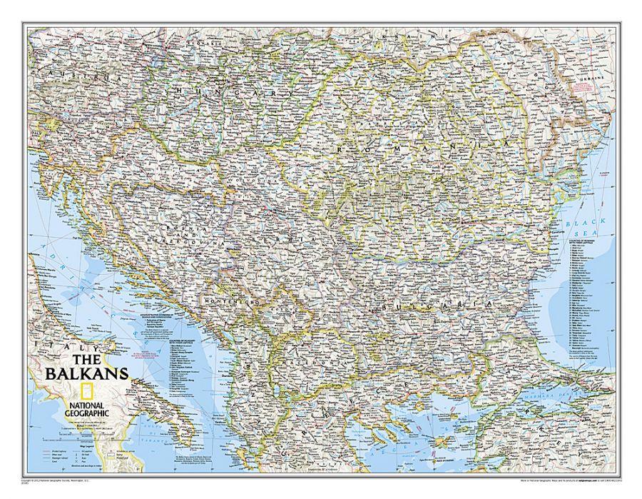 The Balkans Classic Map