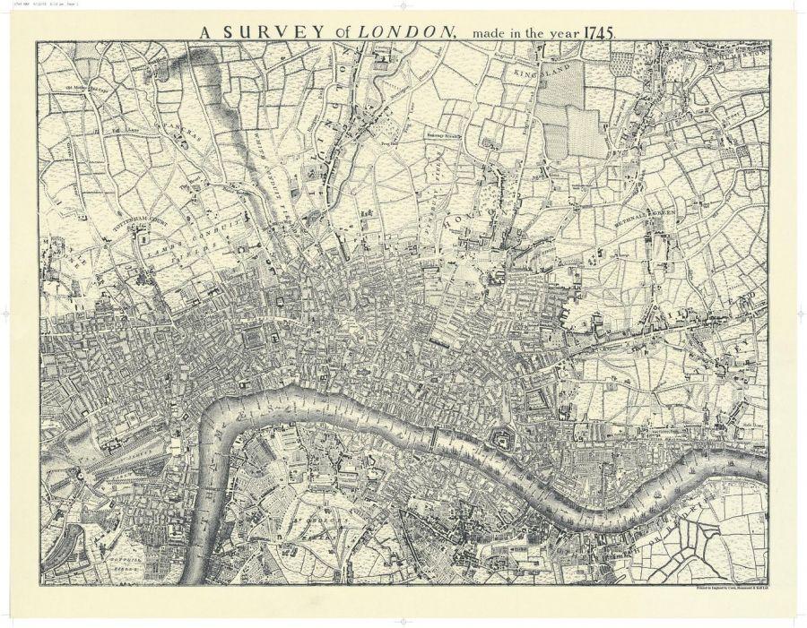 London 1745 Map