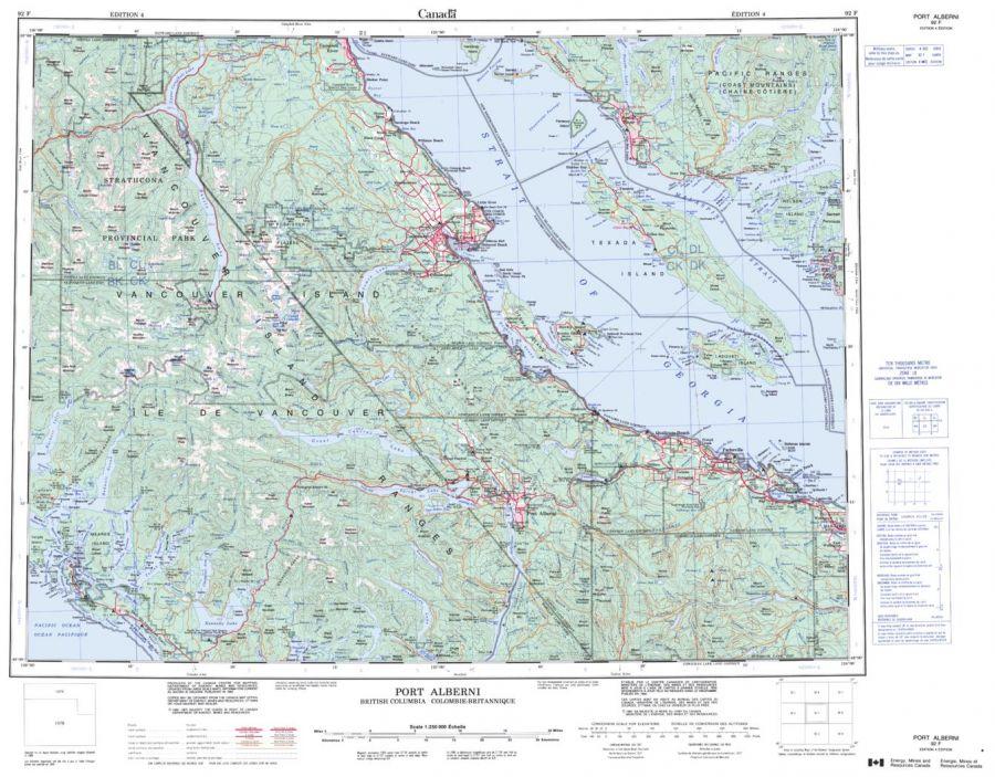 Port Alberni - 92 F - British Columbia Map