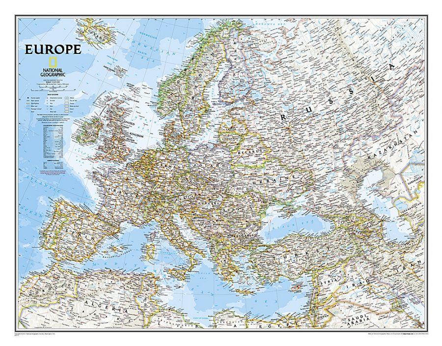 Europe Classic Map