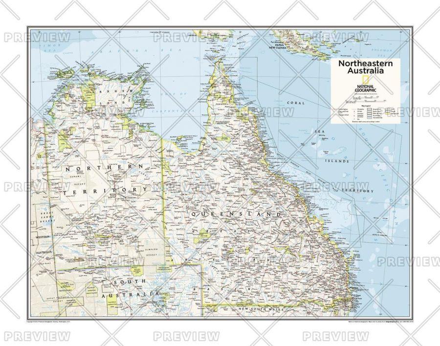 Northeastern Australia Atlas Of The World 10Th Edition Map