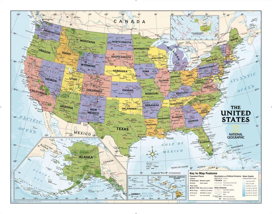 Kids Political Usa Education Grades 4 12 Map