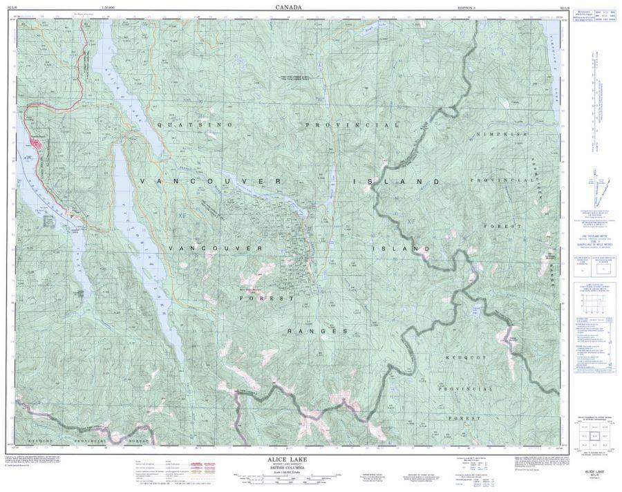 Alice Lake - 92 L/6 - British Columbia Map