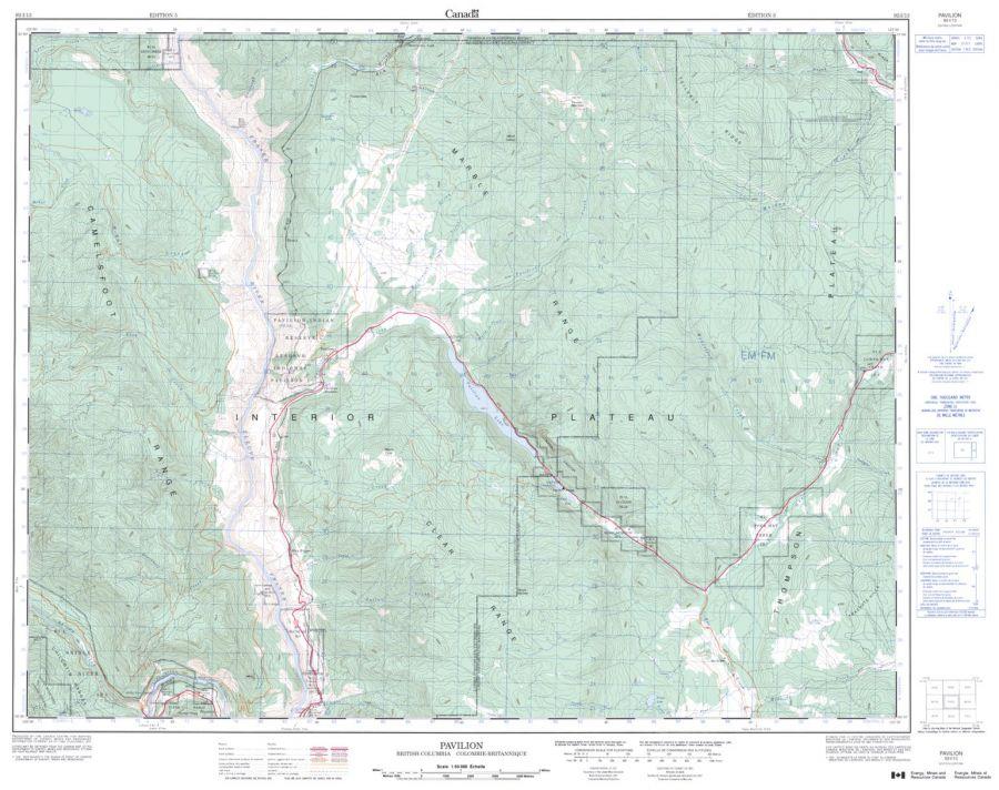 Pavilion - 92 I/13 - British Columbia Map