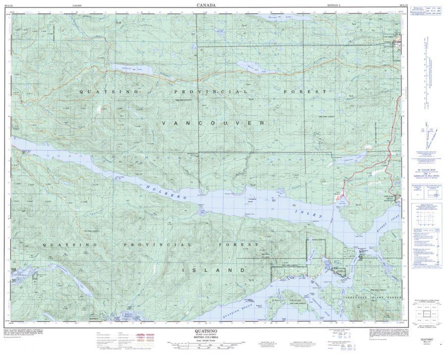 Quatsino - 92 L/12 - British Columbia Map