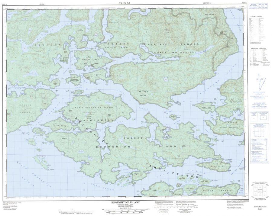Broughton Island - 92 L/15 - British Columbia Map