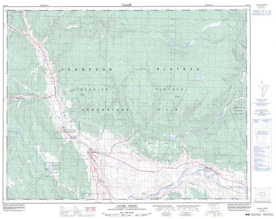 Cache Creek - 92 I/14 - British Columbia Map