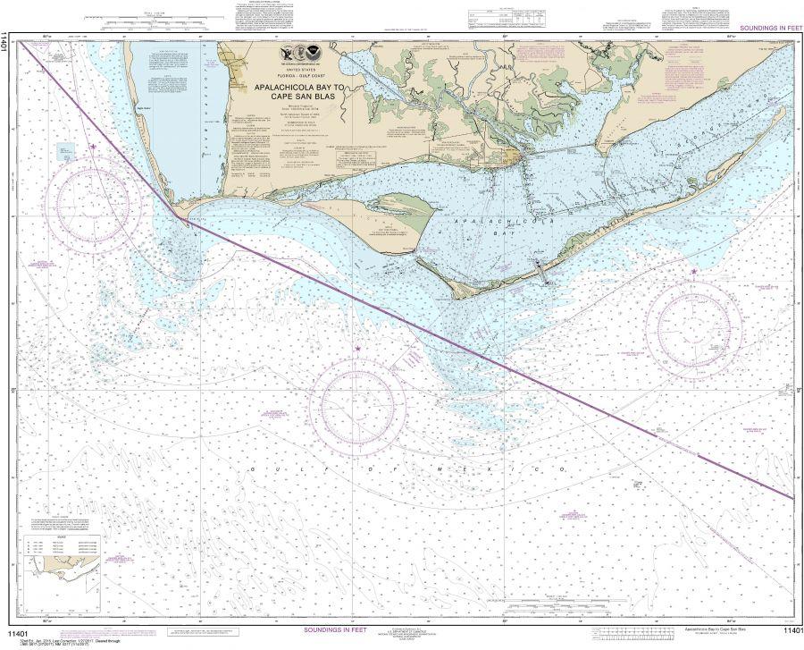 Noaa Chart 11401 Apalachicola Bay To Cape San Blas