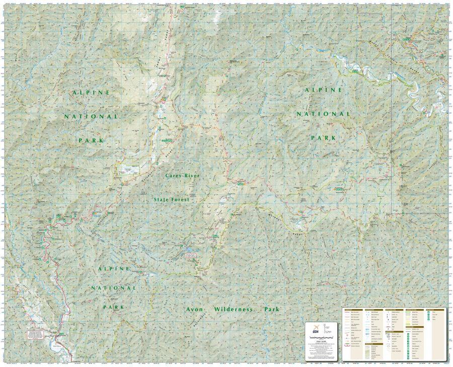 Tali Karng Moroka Victoria Topographic Map