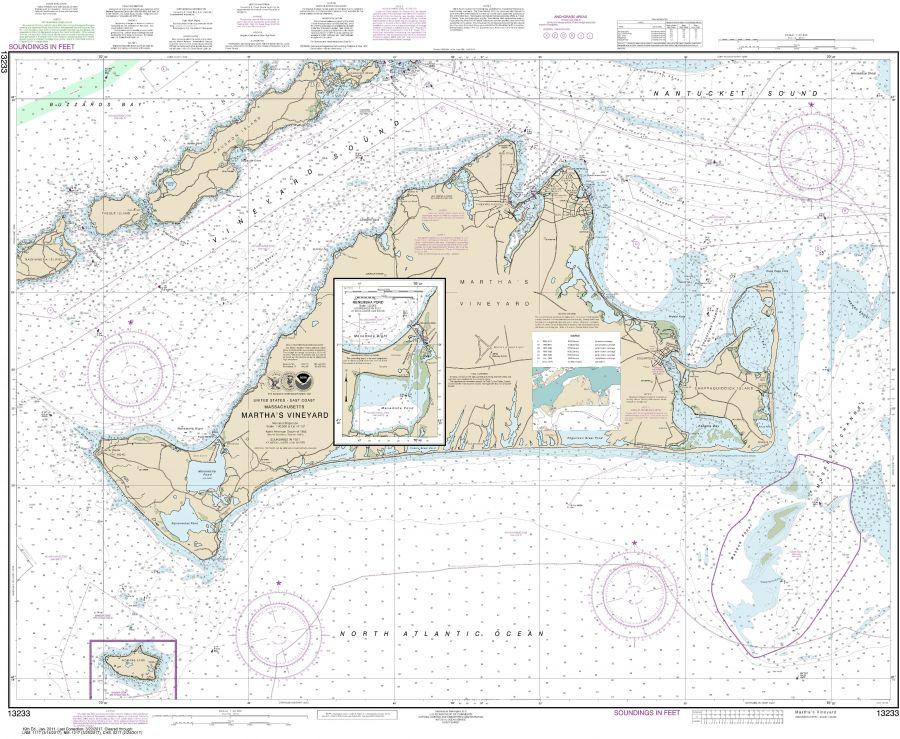 Noaa Chart 13233 Martha S Vineyard Menemsha Pond