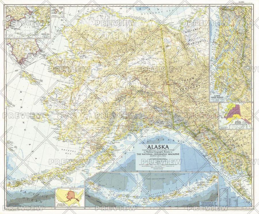 Alaska Published 1956 Map