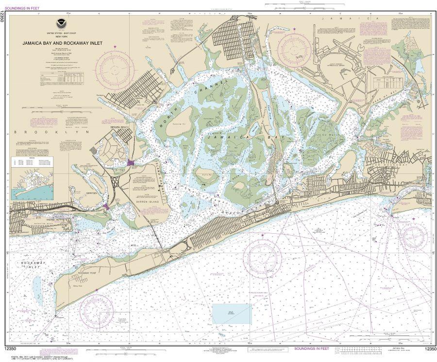 Noaa Chart 12350 Jamaica Bay And Rockaway Inlet