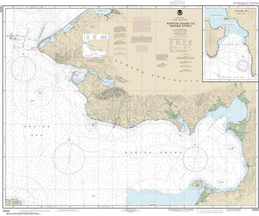 Noaa Chart 16200 Norton Sound Golovnin Bay
