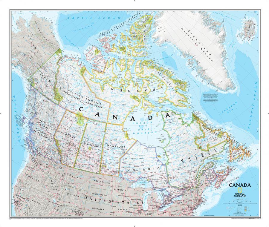 Canada Classic Map