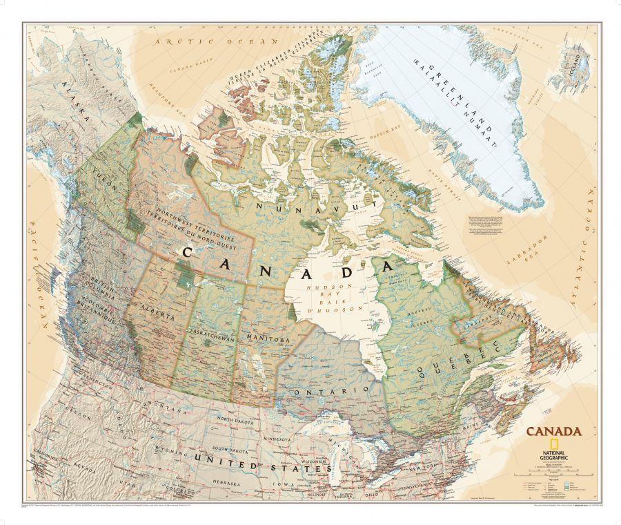 Canada Executive Map