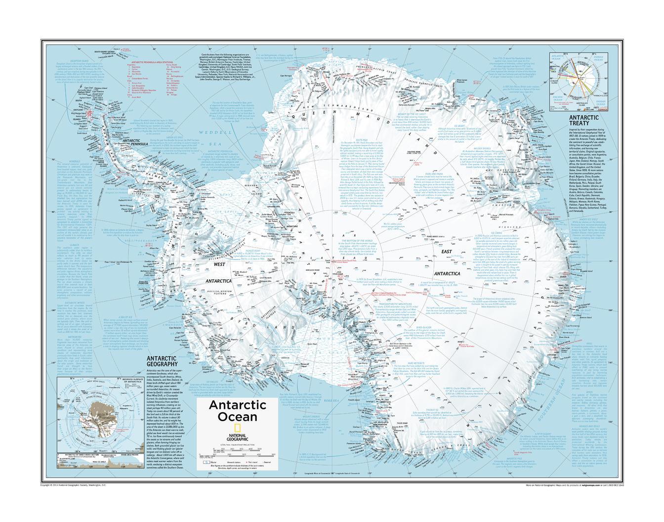 Antarctica Political - Atlas of the World, 10th Edition