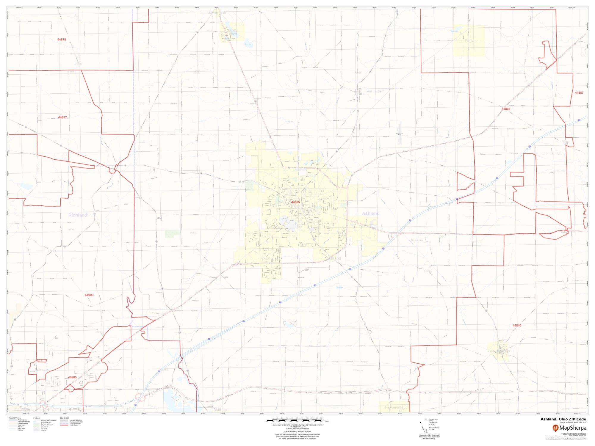 Ashland Ohio Zip Code Map Ashland Ohio Zip Code Map