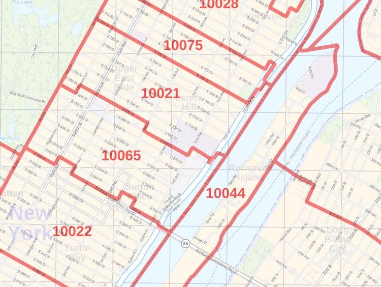 Astoria Ny Zip Code Map