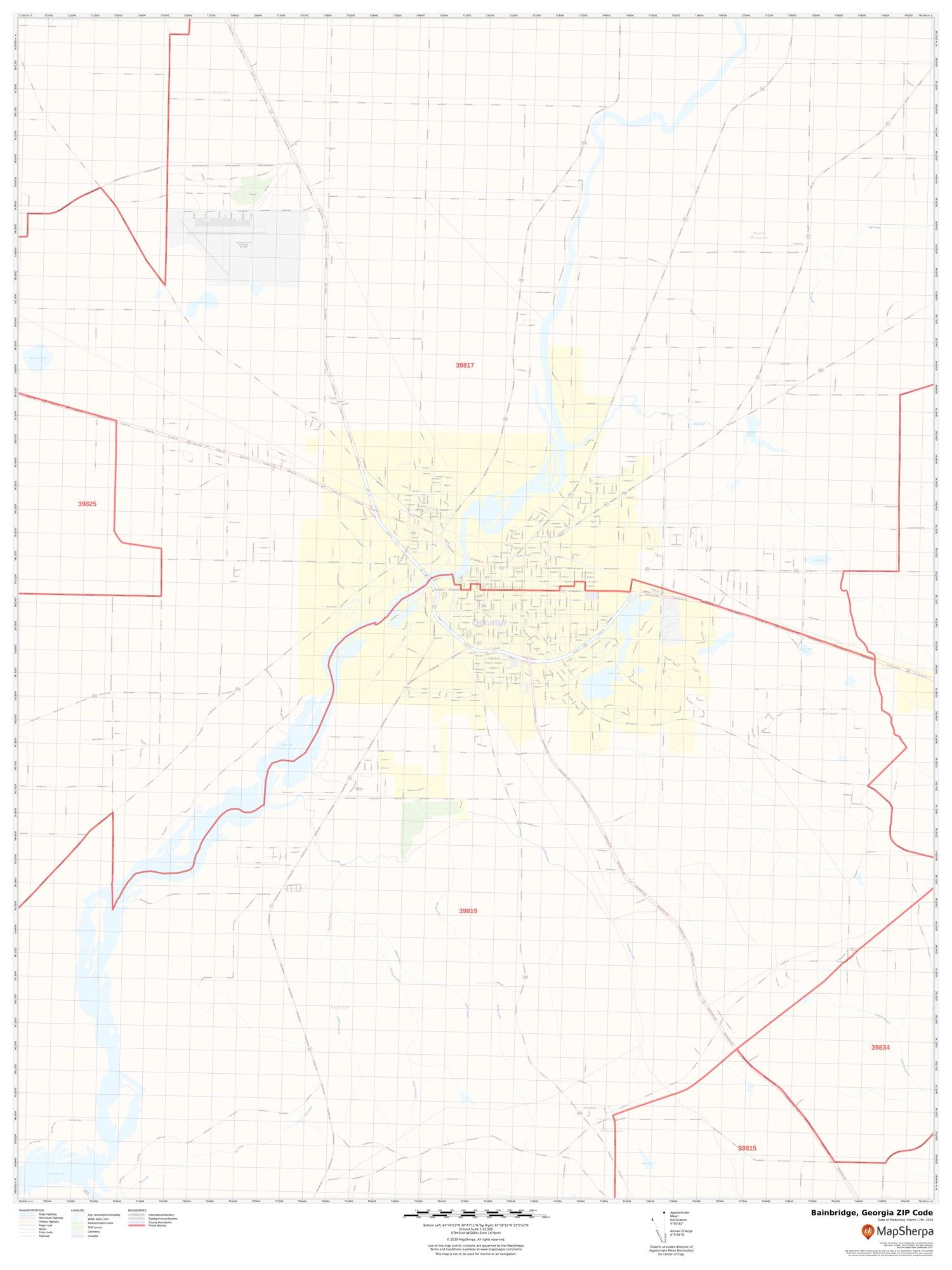 Image of: Bainbridge Ga Zip Code Map