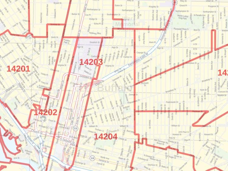 Buffalo Zip Code Map Buffalo NY Zip Code Map