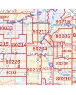 Denver ZIP Code Map, Colorado