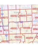 Warren ZIP Code Map, Michigan