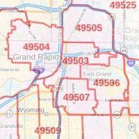 Grand Rapids Zip Code Map Grand Rapids MI ZIP Code Map