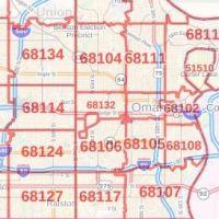 Omaha ZIP Code Map, Neska on