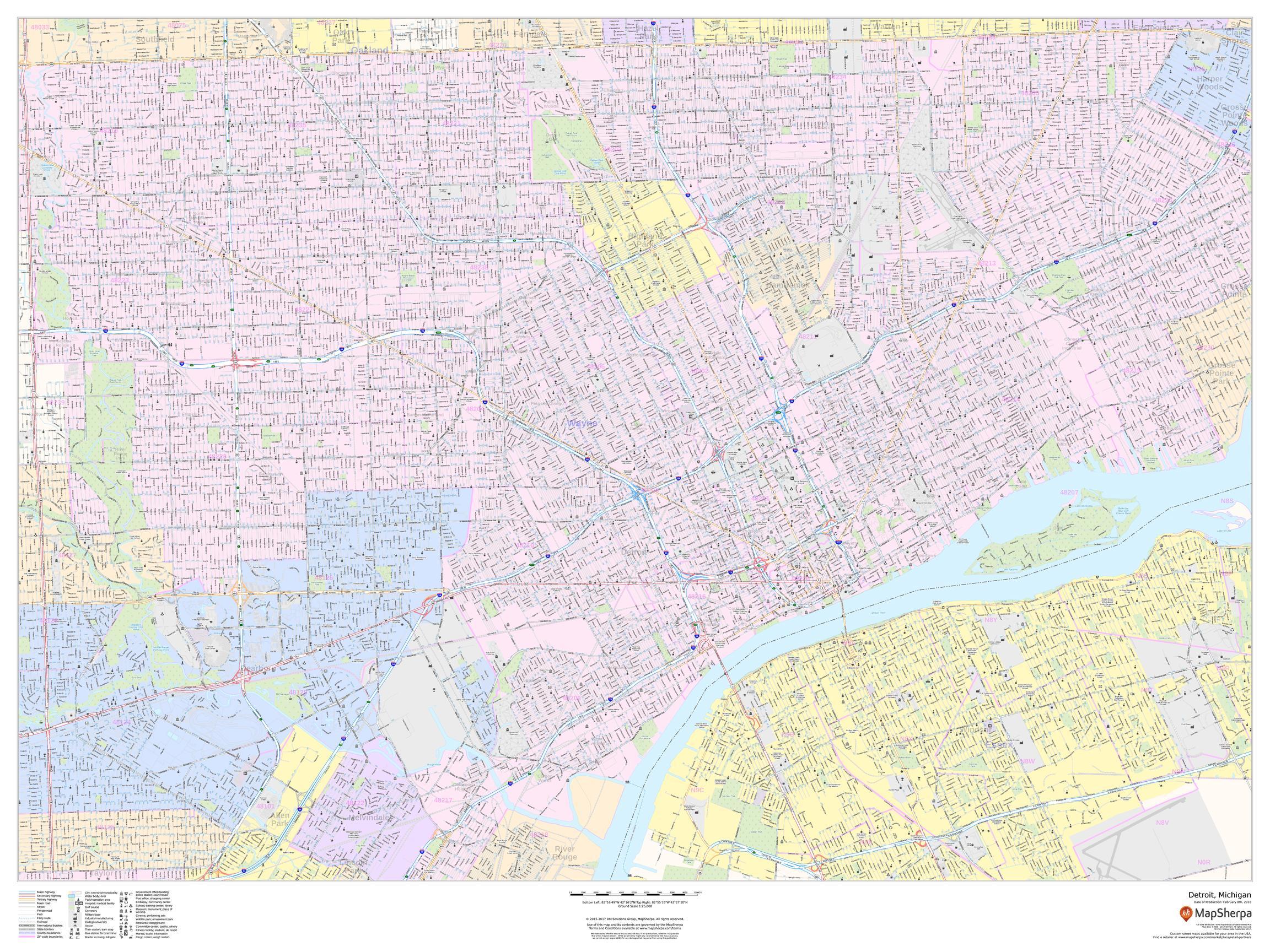 Detroit Map, Michigan - Landscape on map usa dallas, map usa indianapolis, map usa new orleans, map usa san francisco, map usa boston, map usa chicago, map usa san antonio, map usa cleveland, map usa san diego, map usa new york, map usa baltimore, map usa philadelphia, map usa michigan, map usa atlanta,