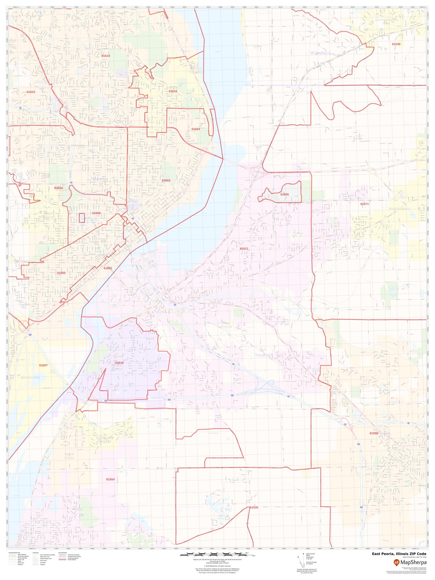 East Peoria Zip Code Map East Peoria Zip Code Map
