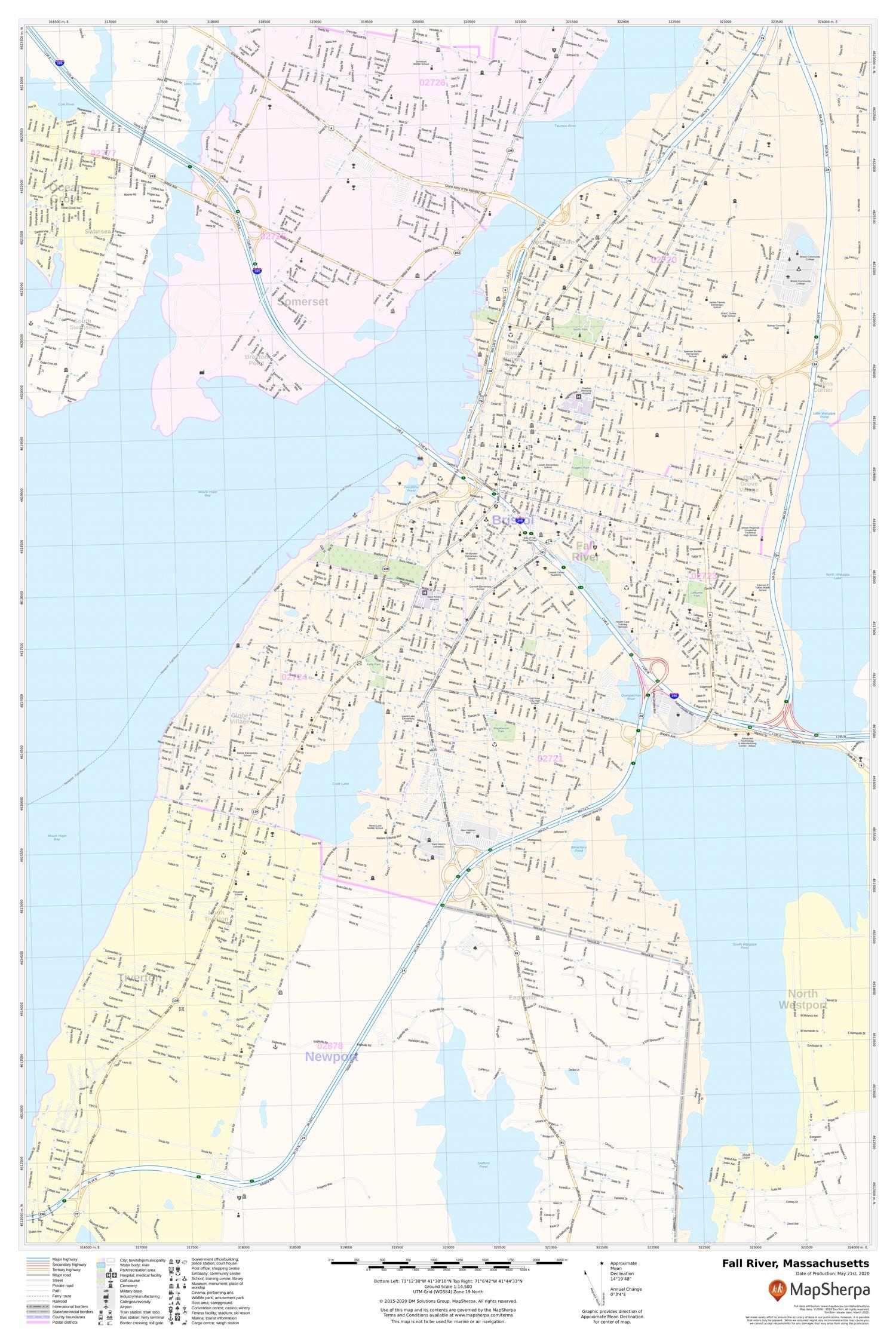 Fall River, MA Map