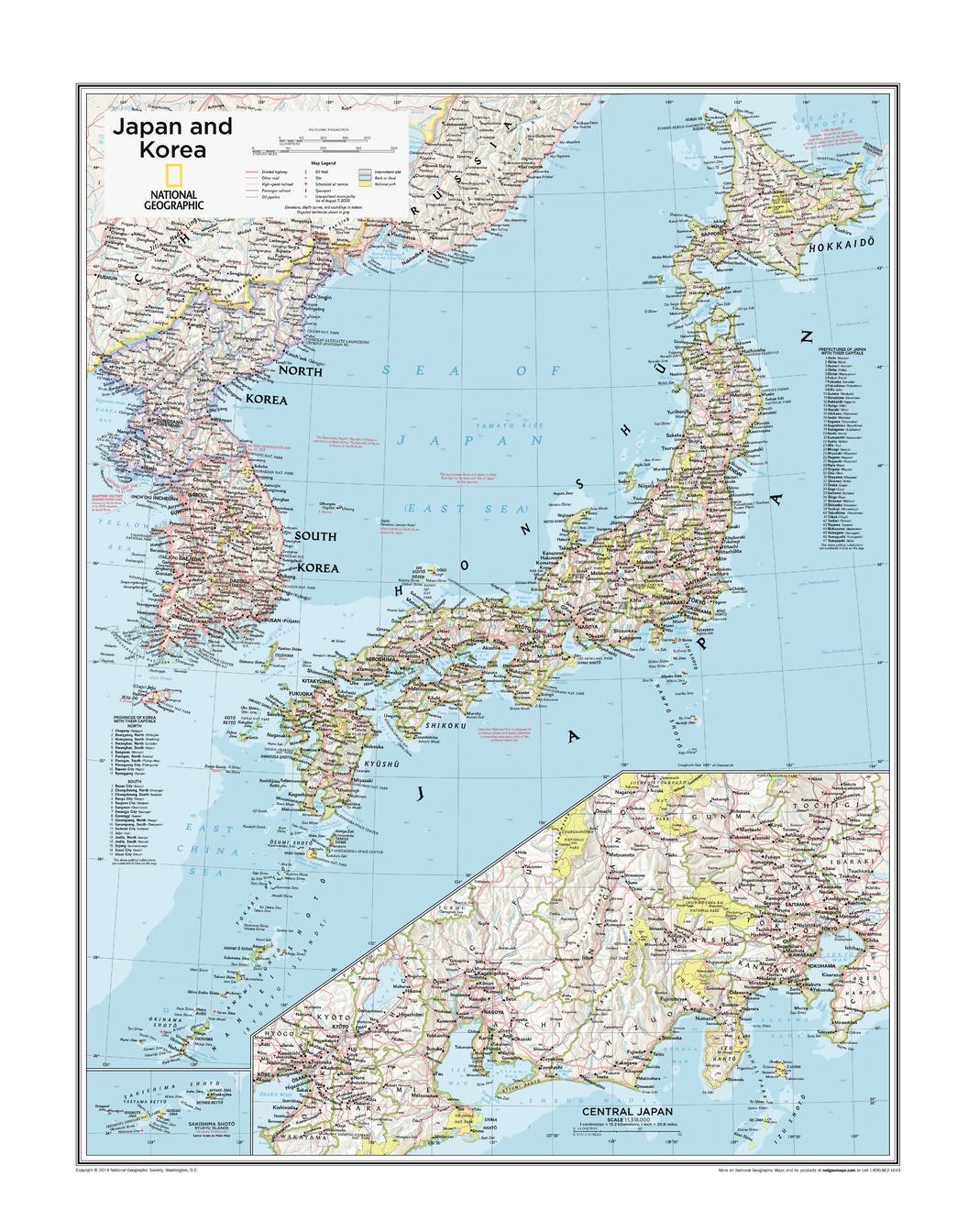 Japan And Korea Atlas Of The World 10th Edition