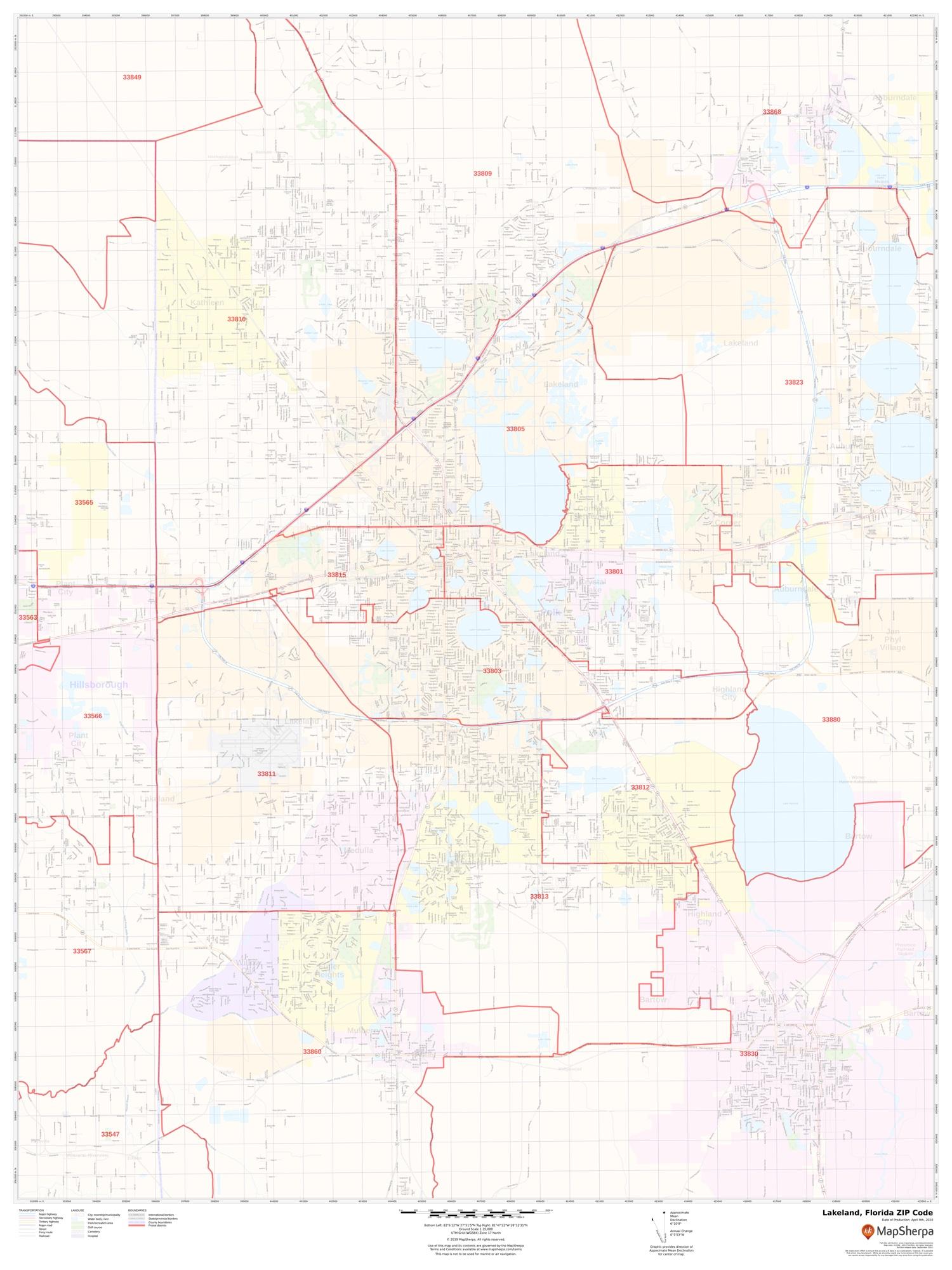 Lakeland Fl Zip Code Map