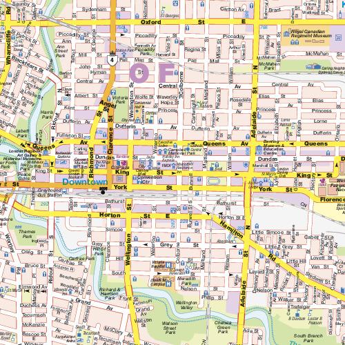 London Ontario City Map