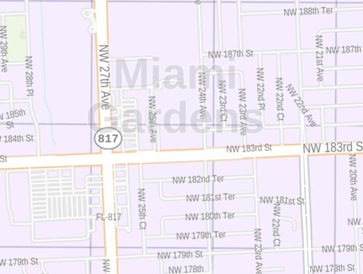 miami gardens fl zip code map