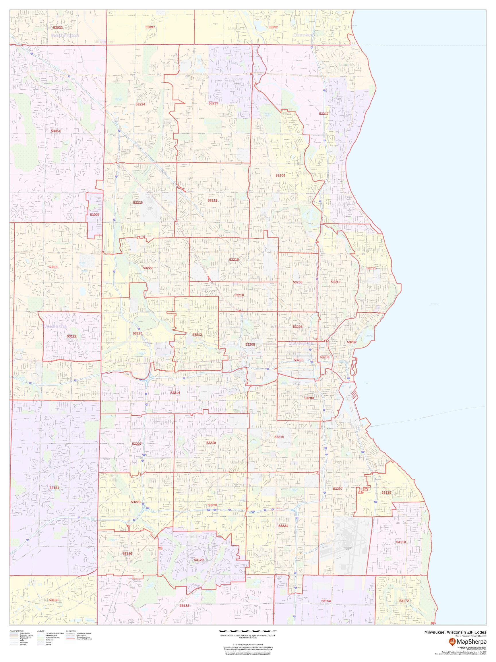 Milwaukee Zip Code Map Milwaukee WI Zip Code Map
