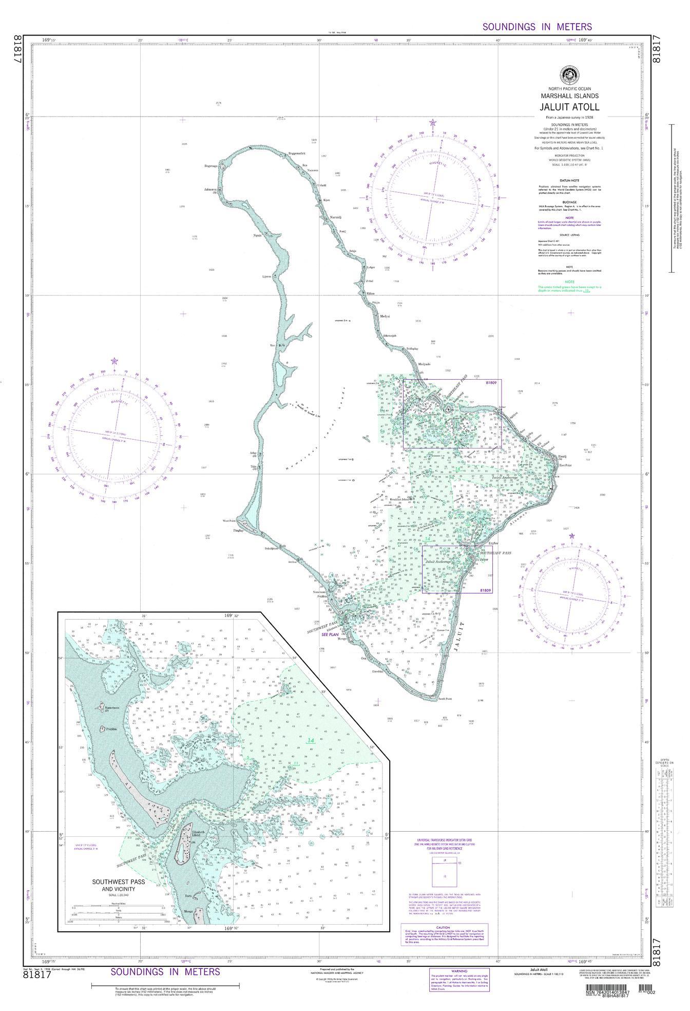 NGA Chart 81817-Jaluit Atoll Marshall Islands