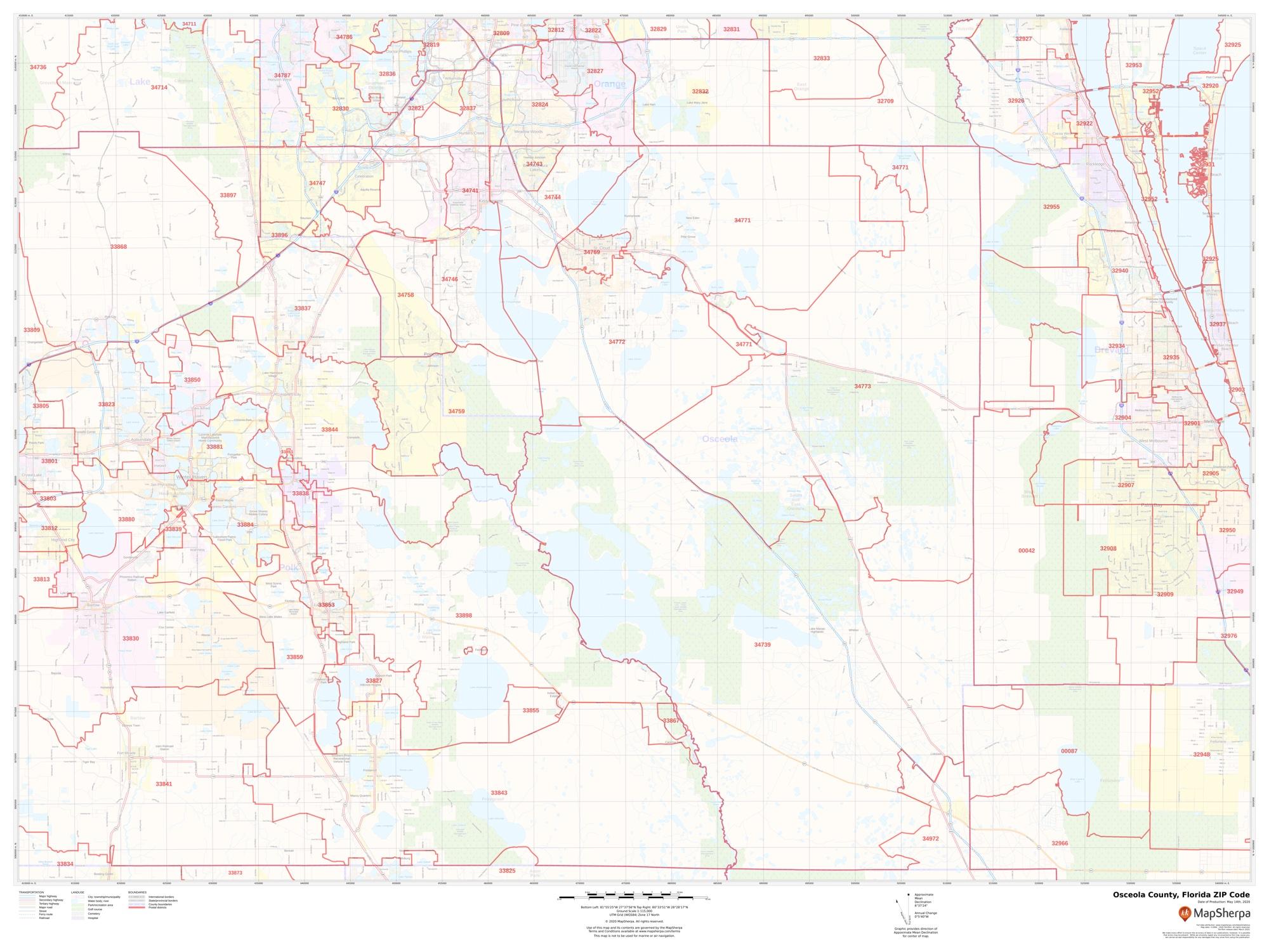 osceola county, florida zip code
