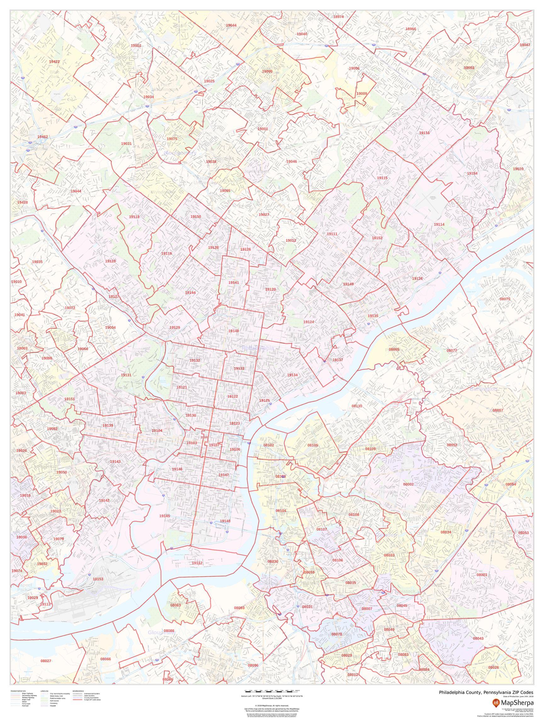 Philadelphia County ZIP Code Map (Pennsylvania) on map of pa flea markets, map of pa schools, map of pa county, map of pa state, map ny zip code, map usa zip code, map of pa municipality, map of pa country, map of pa city, map of pa congressional districts, map of pa industry, map of pa area,
