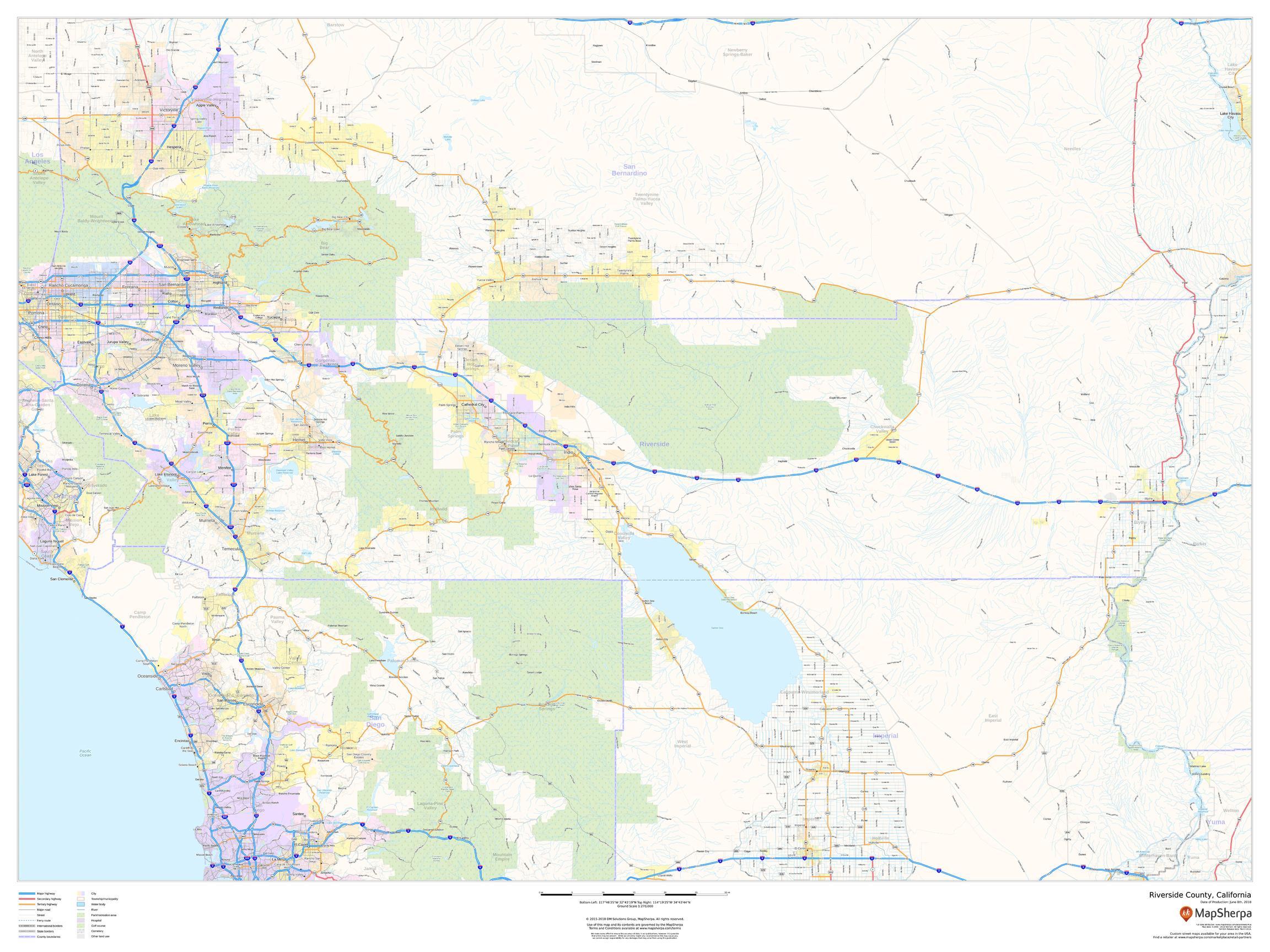 Riverside County Map (California)