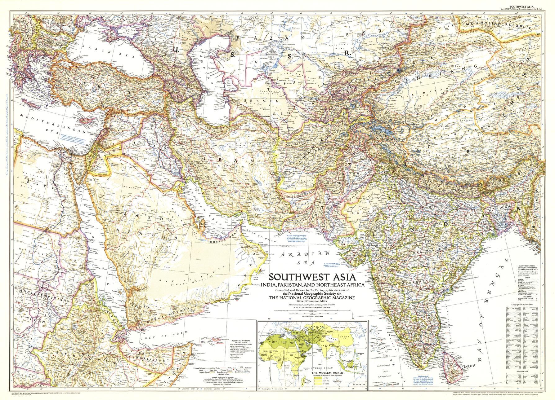 Southwest Asia - Published 1952