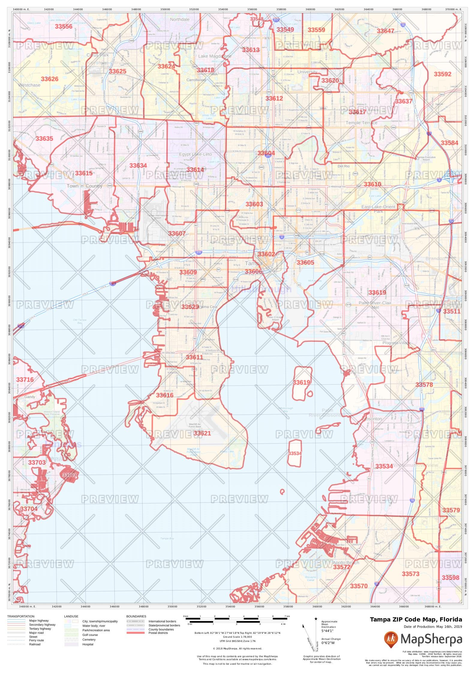 Tampa ZIP Code Map, Florida on time map, id map, landmark map, zip map, msa map, school map, latitude map, mobile map, region map, random map, mileage map, city limits map, map map, language map, state map, country map, birthday map,
