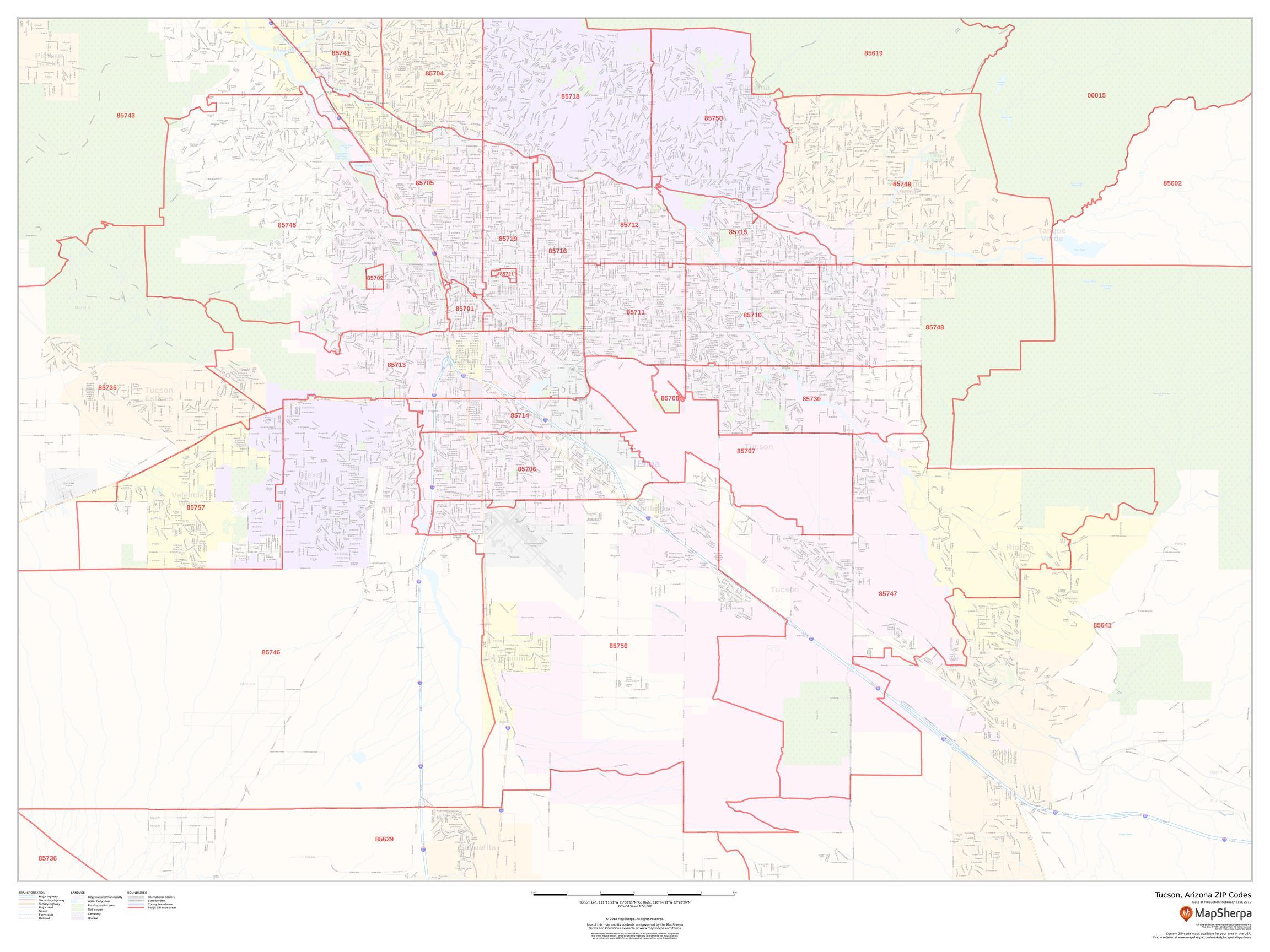 Tucson AZ Zip Code Map on arizona tucson, zip code map tucson, weather tucson, street map tucson,