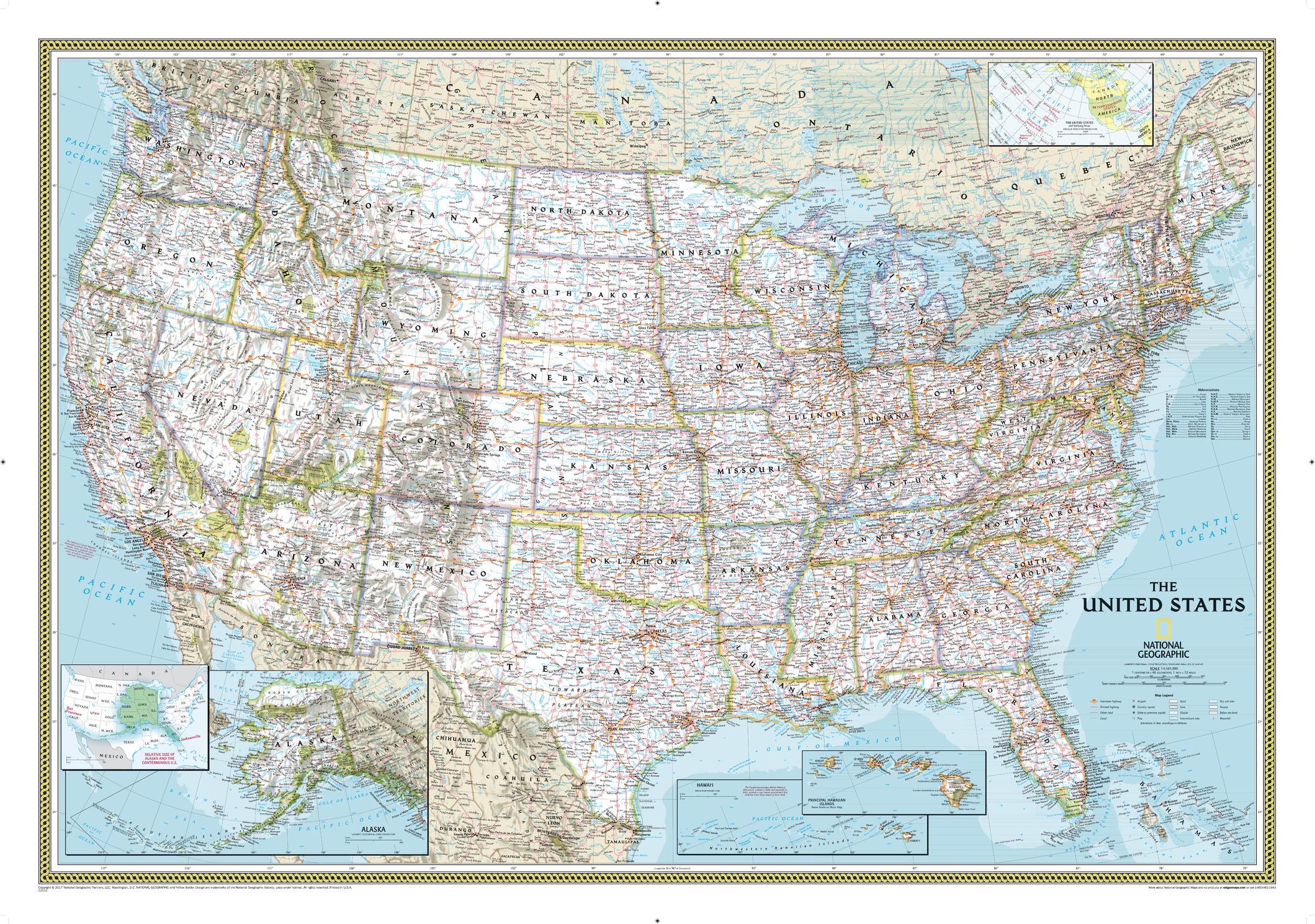 US Wall Map