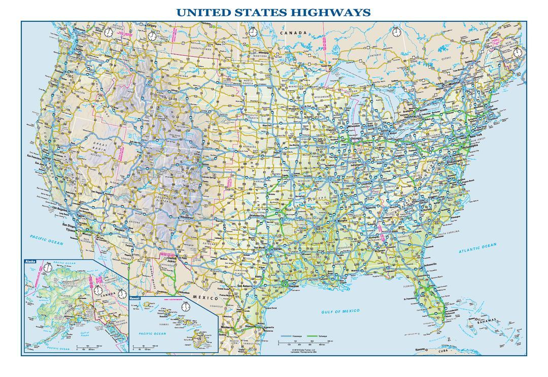US Highway Map