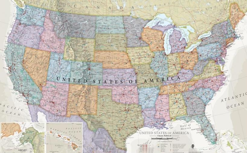 USA Classic Map